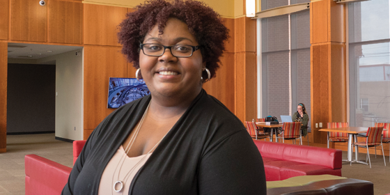 Markenzie Johnson: A 2018 graduate in political science and Africana studies, she was selected for the New Leadership National Network New Jersey program and won the Robert Packard Memorial Award in Political Science and the Chancellor's Award for Civic Engagement.